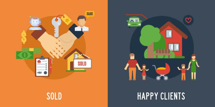 enrol sold happy clients